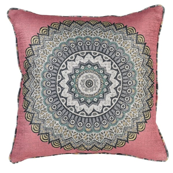 Pink Coral Sunburst Cushion Cover