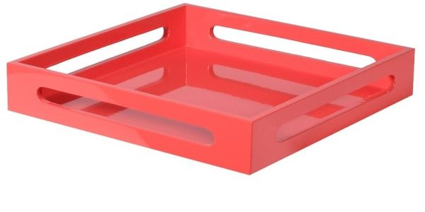 Cerise Lacquered Tray