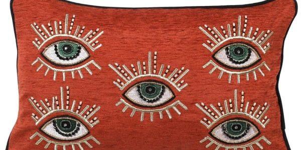 Rust Multi Eye Cushion Cover