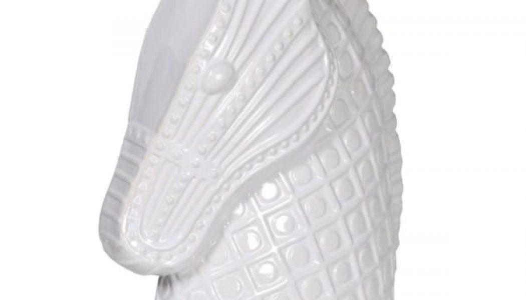 White Ceramic Horse Head