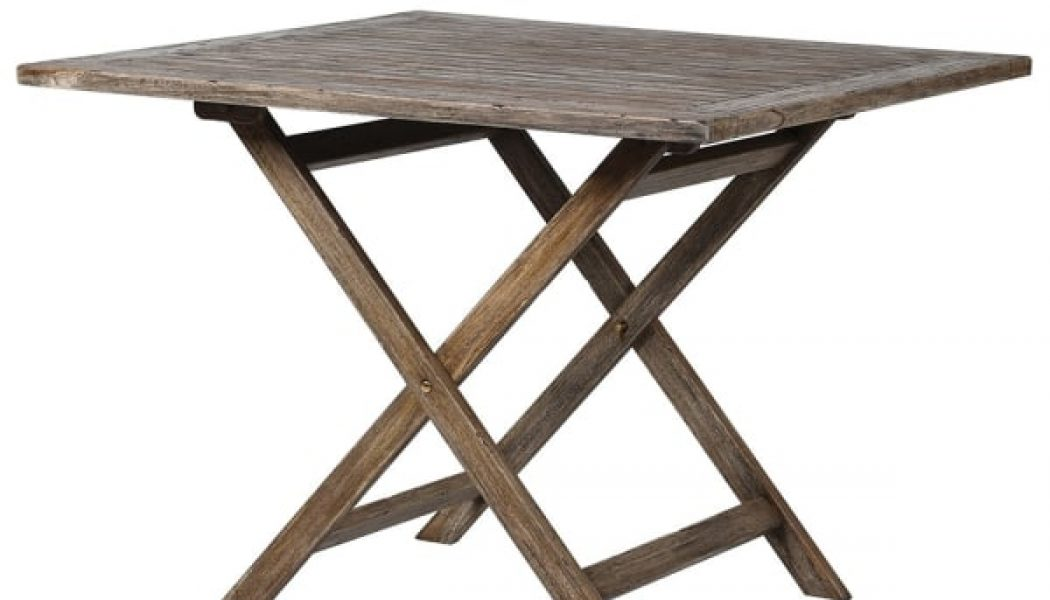 Grey Folding Table