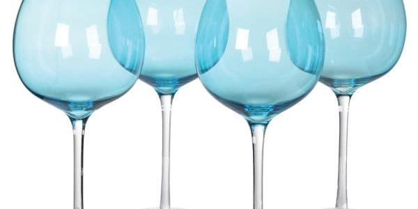 Set of 4 Large Blue Gin Glasses