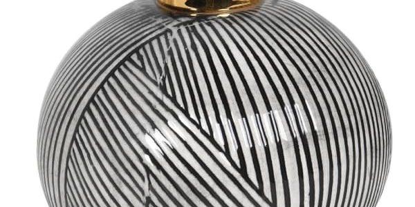 Small Black & White Bud Vase