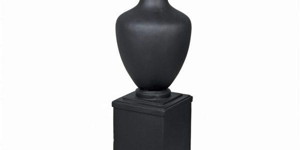 Matt Black Pillar Dry Vase