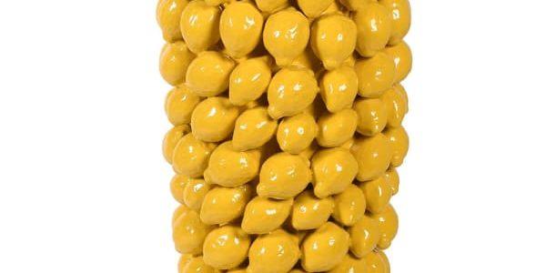 Yellow Lemon Ceramic Vase