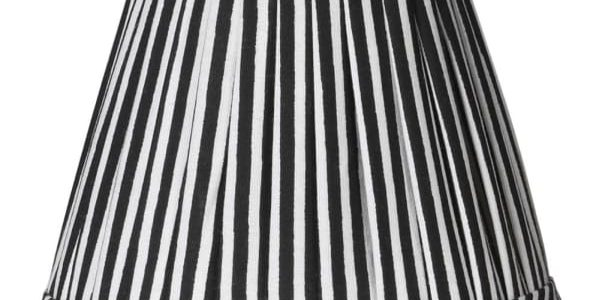 Black and White Pleated Shade