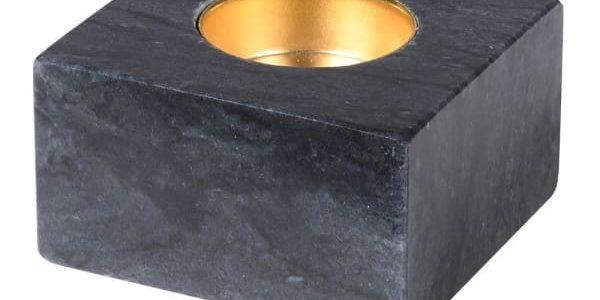 Square Dark Marble Candleholder