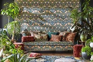 morris-rouen-velvet-fabric-on-sofa